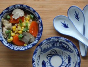 Recipe of the Month: Asian-style chicken corn soup