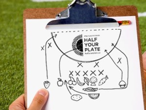 It's easy to fill Half Your Plate, even at a Tailgating Party!