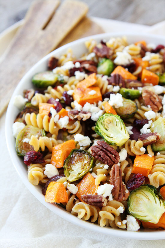 Try sweet potatoes in this yummy pasta dish via Two Peas and their Pod