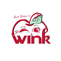 Give them a Wink Apples Logo