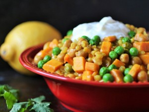 Recipe of the Month: Chickpea sweet potato stew with barley