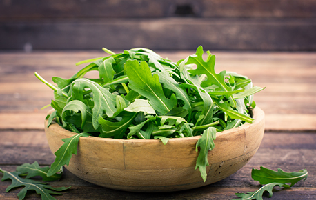 Arugula has a distinct peppery flavour and adds spice to salads!