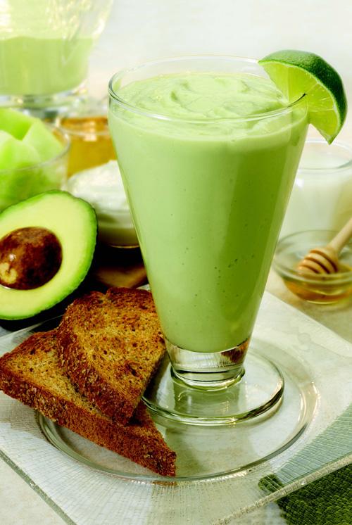 Avocado Melon Breakfast Smoothie