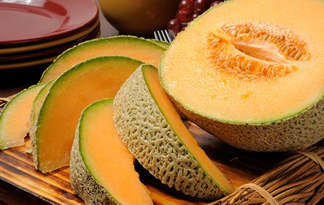 When a cantaloupe feels a little on the hard side, store it at room temperature for a day or so and then put it in the fridge