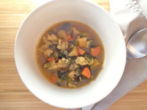 Chunky Roasted Vegetable Soup