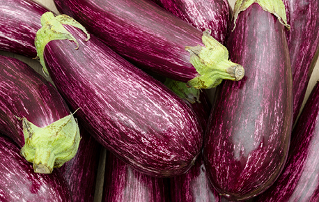 Eggplants are available in variety of shapes, colours, sizes and weights. They can be round, egg-shaped, pear-shaped or elongated.