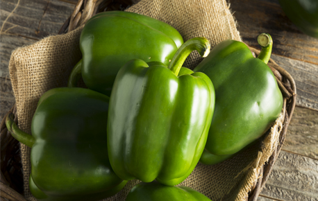 Green peppers are great in stir fries, salads and frittatas.