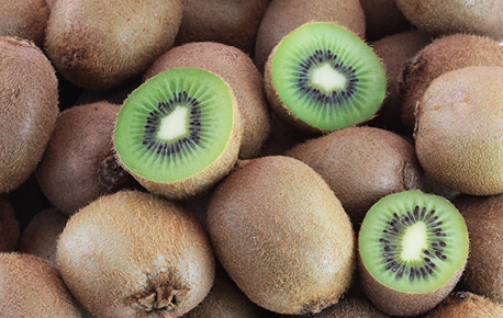 Kiwis don't turn brown when exposed to air, making them the perfect addition to fruit salad!