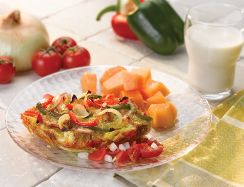 Bell Pepper and Sweet Onion Strata