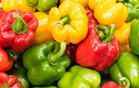 Peppers are also known as bell peppers, for their shape.