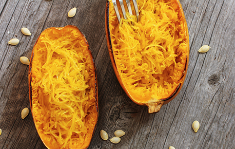 Spaghetti Squash can be used in most recipes that you traditionally make with pasta.
