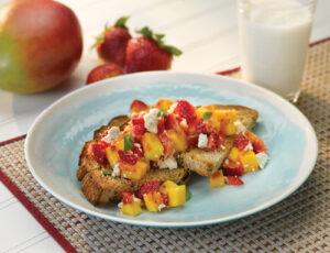 Strawberry Mango Feta Toast
