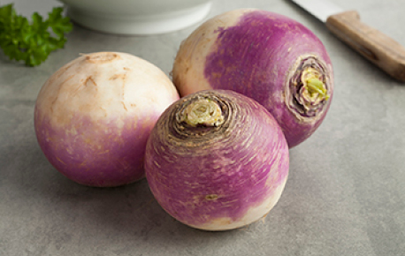 For best flavour look for smaller size turnips that are less then 4 inches in diameter. Select ones that are firm and feel heavy for their size.