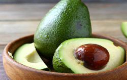 Close up photo of avocado in bowl
