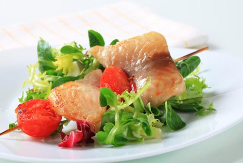 Broiled Teriyaki Catfish with Wasabi Cucumber Salad
