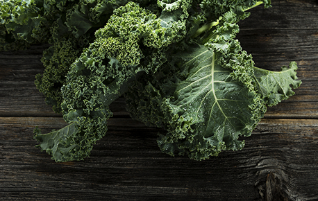 Chopped kale leaves can be used to make kale chips, a nutritious low calorie snack that everyone will like.