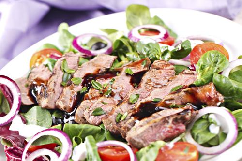 Caesar Steak and Warm Potato Salad