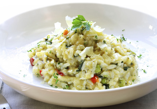 Grilled Onion and Vegetable Risotto