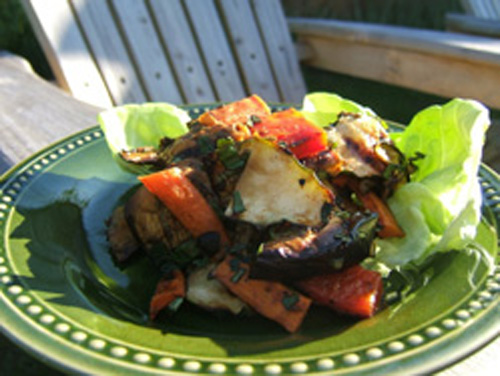 Grilled Chopped Vegetable Salad
