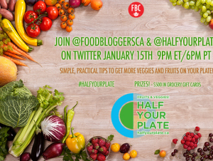 Join us and Food Bloggers of Canada for a Twitter Party on Jan. 15 – Great Prizes!