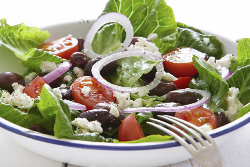 Mixed Greens with Creamy Balsamic Dressing