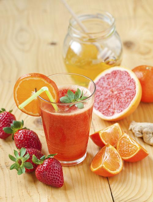 Orange-Berry Smoothie Recipe — Dishmaps