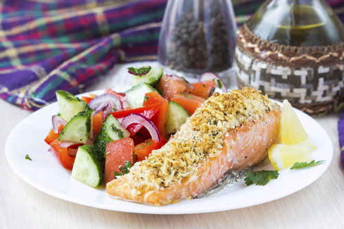 PEI Potato Crusted Salmon