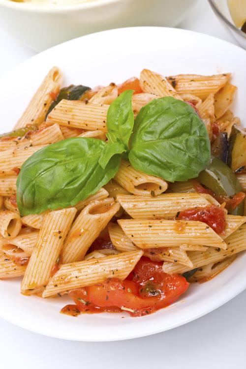 Tomato-Mushroom Pasta Bowl