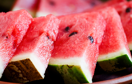 Watermelon shapes can be round, oval or elongated melon form, and the fruit can weigh from 5 pounds to as much as 50 pounds.