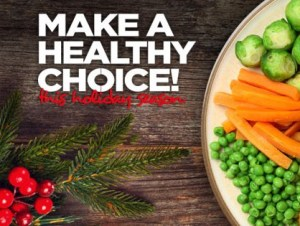 Quick tips for eating more fruits and veggies over the holidays!