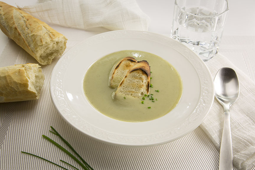 Soupe aux poireaux et aux pommes de terre de l'Île