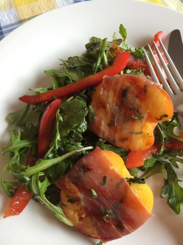 Prosciutto Grilled Peach Salad