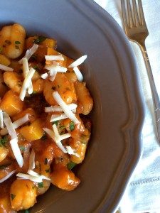 Squash and gnocchi pasta