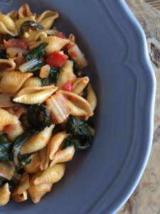 Swiss Chard and Tomato Pasta