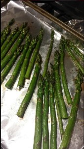 Roasted asparagus via Food 4 Happiness