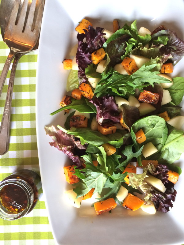Roasted Squash Pear Salad