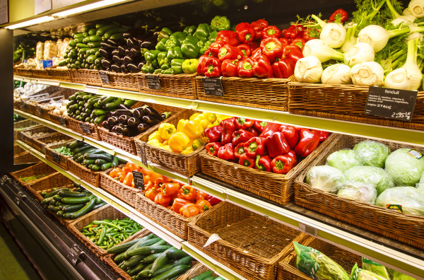 Grocery Store Produce Wall