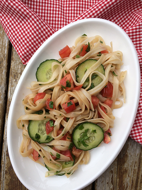 Cucumber Tomato Rice Noodle Salad sm