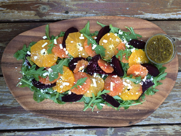 Roasted Beet Salad with Orange and Feta