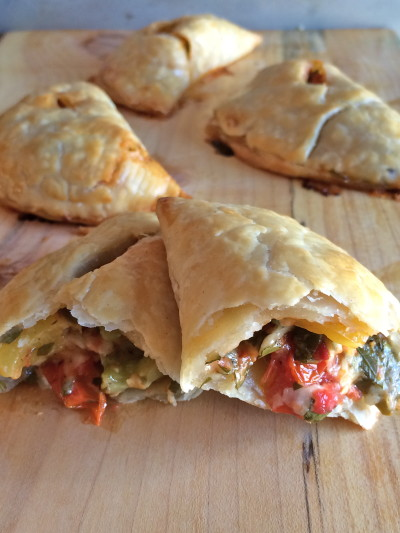 roasted veg hand pies