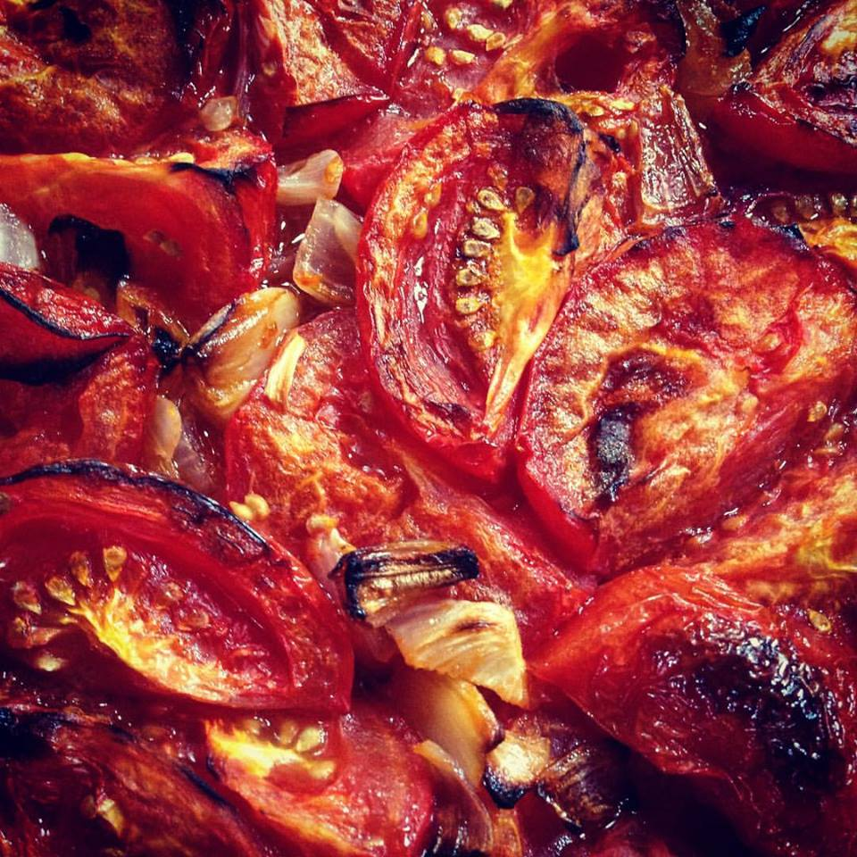 Roasted Tomatoes Close Up