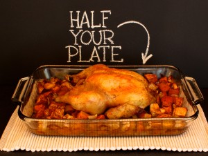 Roast Chicken with Butternut Squash and Apples