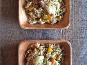 Roasted Cauliflower and Pumpkin Orzo
