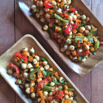 Roasted Carrot, Pepper and Chickpea Salad