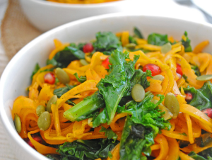 Roasted Squash Fall Salad from Emilie Eats