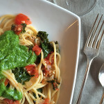 Kale and Tomato Spaghetti