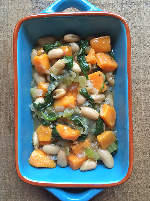 Sweet potato and bean stew