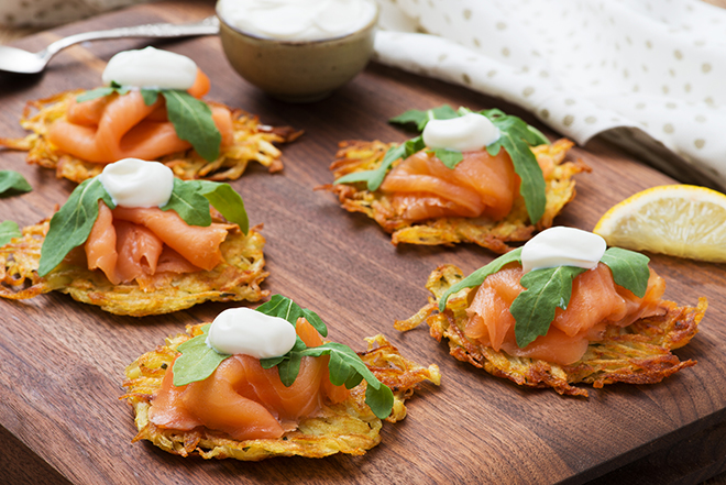 Rosti with Smoked Salmon