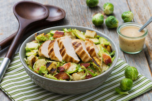 Brussels Sprouts Chicken Caesar Salad