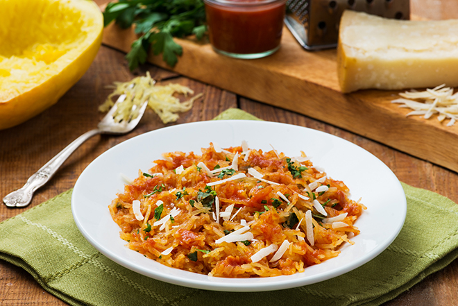 Spaghetti Squash Marinara from BC Fresh